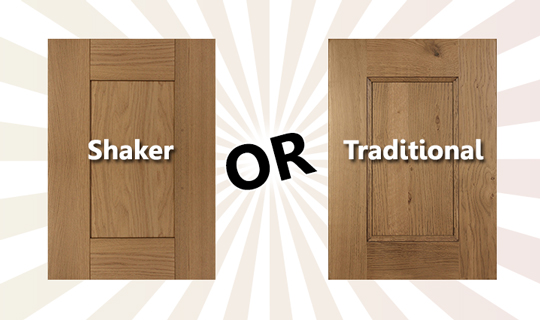 Shaker Cabinet Frontals or Traditional Cabinet Frontals