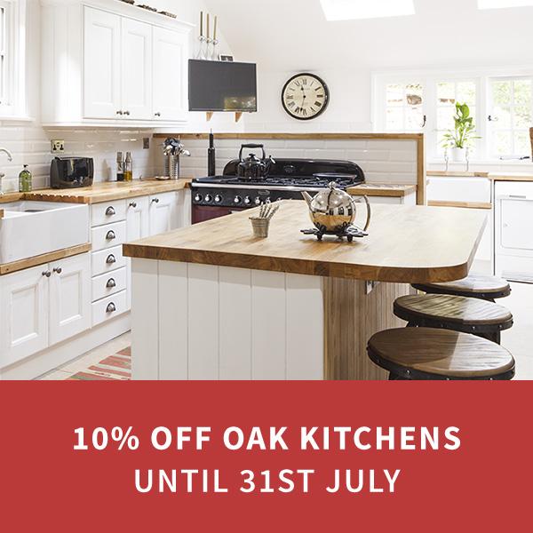 Last Chance to Save 10% on Our Solid Wood Kitchens