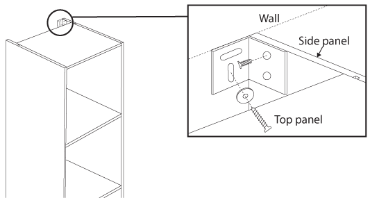 fitting cabinet to wall