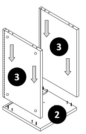 500mm - 600mm Wall Cabinet (Bridge Unit) Installation Guide - Step Four