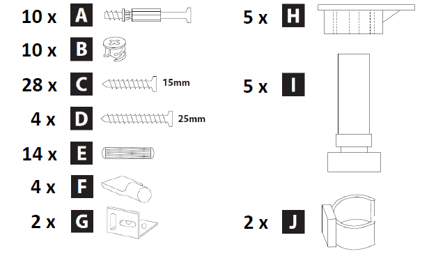 800mm - 1200mm Sink Housing Cabinet Assembly Instructions