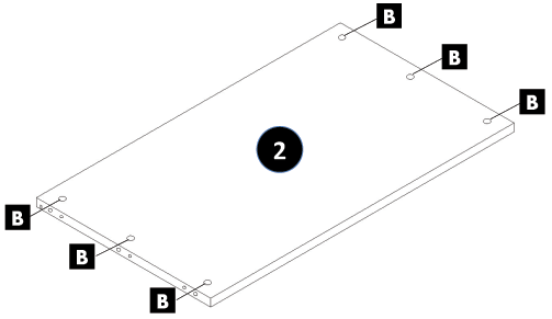 800mm - 1200mm Wide Belfast Sink Cabinet Assembly Instructions - Step 2
