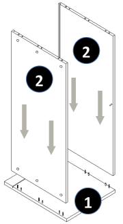 800mm - 1200mm Wide Belfast Sink Cabinet Assembly Instructions - Step 3
