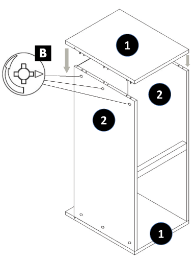 800mm - 1200mm Wide Belfast Sink Cabinet Assembly Instructions - Step 5