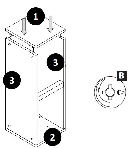 800mm - 1200mm Wall Cabinet (Bridge Unit) Installation Guide - Step Seven