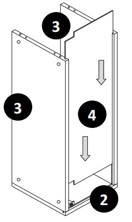 800mm - 1200mm Wall Cabinet (Bridge Unit) Installation Guide - Step Six