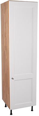 Solid Oak Full Height Cabinet 1 X Full Height Door with Traditional All White Frontal