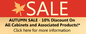 Amazing Autumn Sale - 10% off our entire range of kitchen cabinets and associated products