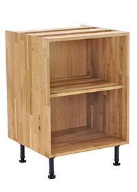 Solid Wood Base Cabinet - Front View