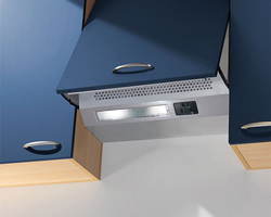 Integrated cooker hood from Baumatic built into cabinet unit.