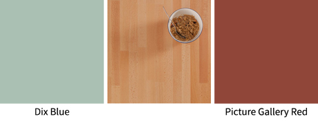 Two shades that combine beautifully with beech worktops.