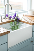 Belfast sinks look fantastic in real wood kitchens.