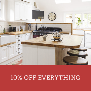 Save 10% on everything at Solid Wood Kitchen Cabinets until 23:59 on Tuesday 2nd October.