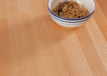 Beech worktops are a key feature of the Great British Bake Off tent.