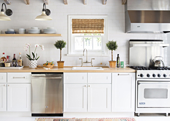With cabinets running along a single wall, one wall kitchens are perfect for saving space.