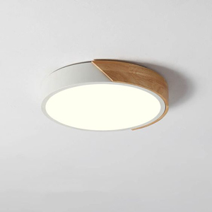 Contemporary flush mount ceiling lights are made from a variety of materials such as wood.