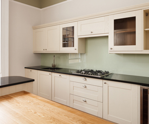Clear up kitchen worktops to make it seem like the is more work surface area.