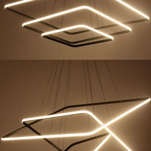 Chandeliers can be contemporary too, like this simplistic and modern version.