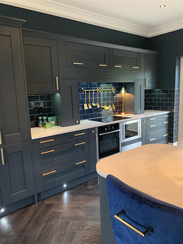 The Psychology Of Blue Kitchens Solid Wood Kitchen Cabinets Blog
