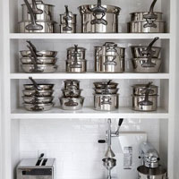 Organise your cupboards for maximum storage space.