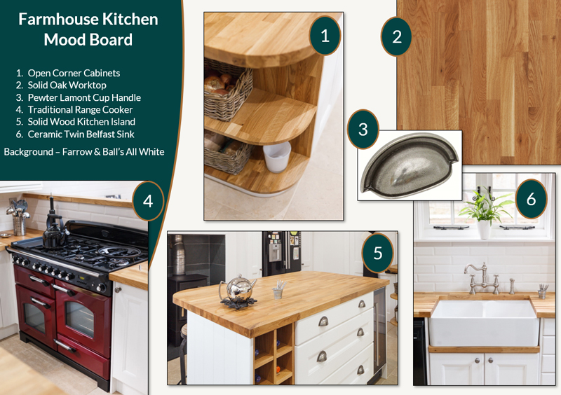 Farmhouse Kitchen Mood Board Solid Wood Kitchen Cabinets Blog