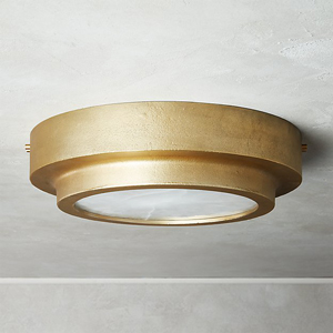 This traditional flush mount light is suitable for a kitchen with a low ceiling.