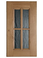 Glazed Traditional doors are available with four or six panes of glass, depending on the height of the cupboard.
