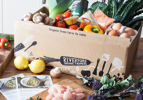 Riverford have a wide selection of recipe boxes to choose from each week.