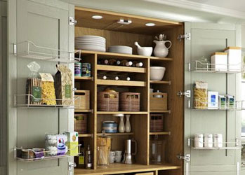 A pantry, like this one, is perfect for storing all of your baking ingredients.