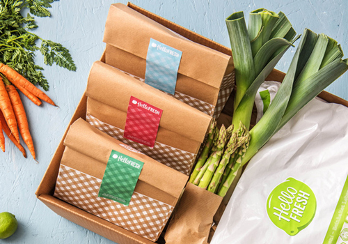 Hello Fresh recipe subscription boxes contain high quality, fresh ingredients in exact portions sizes.