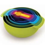 Colourful Kitchen Accessories for White Cabinets