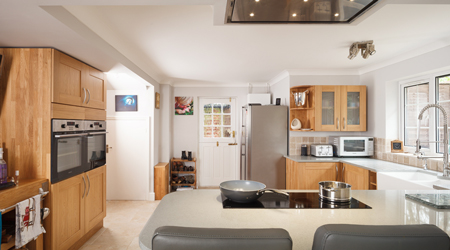 The addition of a kitchen extension will add value and space to your house.