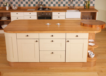 A kitchen island provides you with lots of work surface area as well as storage space.
