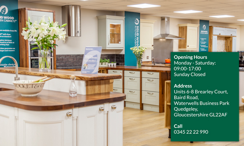 Our Kitchen showrooms, Gloucester have lots of inspiration for your own kitchen.