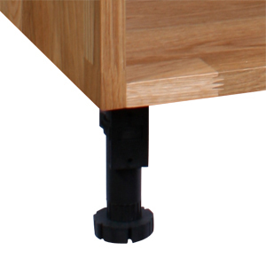 These leg packs for kitchen cabinets are available in sizes of four or five.