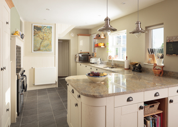 L-shaped kitchens are suitable for large or small kitchens.