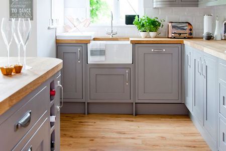 Laminate flooring is the ideal choice for easy for an easy clean kitchen.