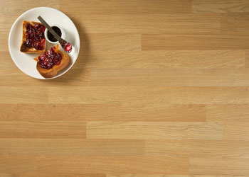 Oak block laminate worktops are easy to maintain and are inexpensive too.