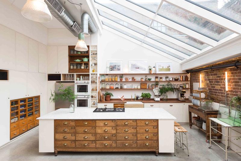 A Look Inside A Celebrity Kitchen Jamie Oliver Solid Wood Kitchen