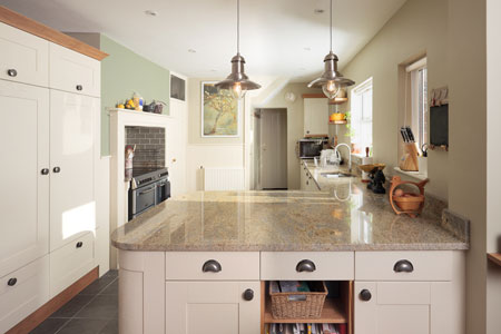 A peninsula is a good option if you want to create an L-shaped kitchen.