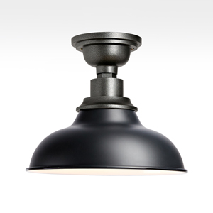 Semi-flush mount lights are great for use in a kitchen with a medium height ceiling.