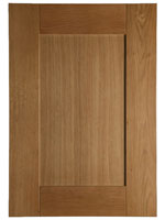 Solid wood Shaker doors are made from European oak and are ideal for a contemporary kitchen design.