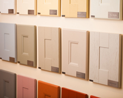 These Cabinet doors showcase the range of Farrow & Ball colours that we use.
