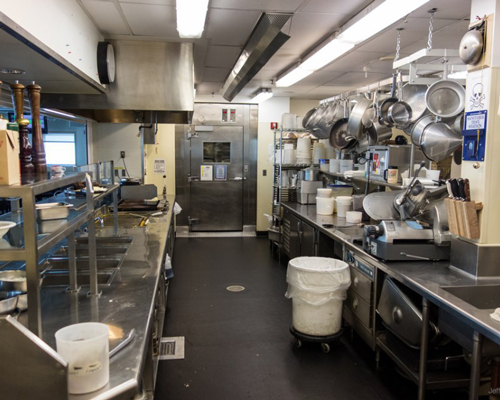 The kitchen in Amundsen–Scott Scientific Research Station has to cater for up to 200 people at a time.