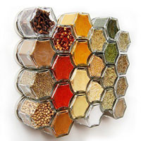 These magnetic spice jars are perfect for freeing up wall space.