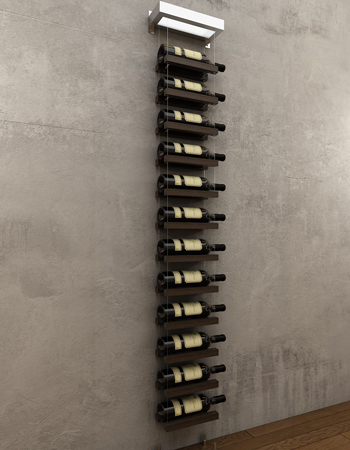 This wine rack is simplistic, elegant, sophisticated and is ideal for a contemporary kitchen with dark worktops.