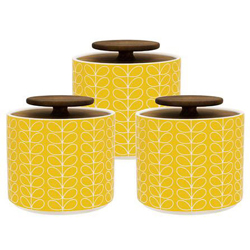 These three kitchen storage jars have a Gen Z yellow colour - perfect for retro kitchens.