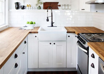 U-shaped kitchens are perfect for smaller and large houses alike.