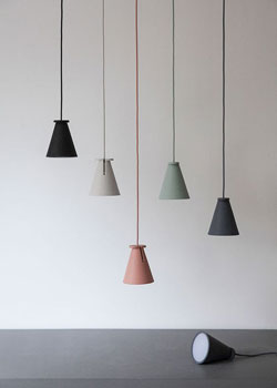 These minimalist pendent lamps are perfect for a Scandinavian inspired kitchen.