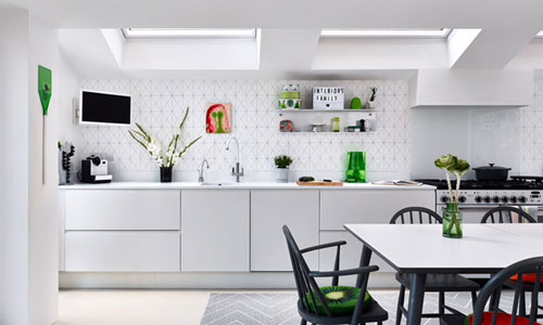 Sara Morrison has used her experience of family kitchen design to create a beautiful space.